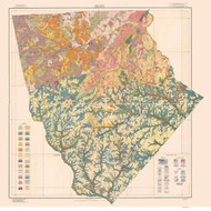 Moore County Soils Map, 1919 North Carolina - Old Map Reprint