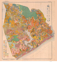Onslow County Soils Map, 1921 North Carolina - Old Map Reprint