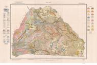 Polk County Soils Map, 1923 North Carolina - Old Map Reprint