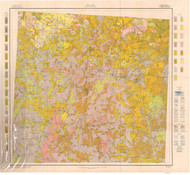 Randolph County Soils Map, 1915 North Carolina - Old Map Reprint