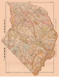 Robeson County Soils Map, 1908 North Carolina - Old Map Reprint