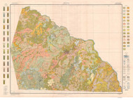 Rowan County Soils Map, 1914 North Carolina - Old Map Reprint