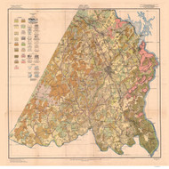 Stanly County Soils Map, 1916 North Carolina - Old Map Reprint