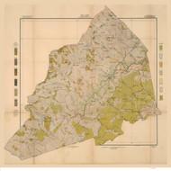 Transylvania County Soils Map, 1906 North Carolina - Old Map Reprint
