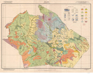 Watauga County Soils Map, 1928 North Carolina - Old Map Reprint