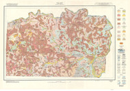 Yadkin County Soils Map, 1924 North Carolina - Old Map Reprint