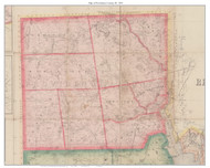 Providence County Rhode Island 1855 - Old Map Custom Print