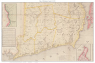 Washington County Rhode Island 1855 - Old Map Custom Print