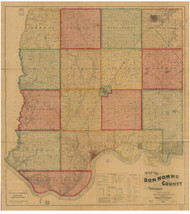Bon Homme County South Dakota 1893 - Old Map Reprint