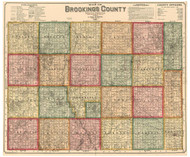 Brookings County South Dakota 1897 - Old Map Reprint