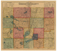 Codington County South Dakota 1898 - Old Map Reprint
