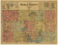 Hamlin County South Dakota 1897 - Old Map Reprint