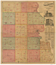 Lincoln County South Dakota 1893 - Old Map Reprint