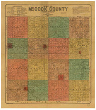 McCook County South Dakota 1900 - Old Map Reprint