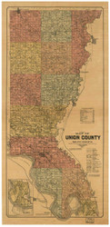 Union County South Dakota 1901 - Old Map Reprint