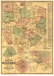 Bedford County Tennessee 1878 - Old Map Reprint