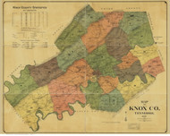 Knox County Tennessee 1895 - Old Map Reprint