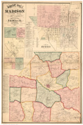 Madison County Tennessee 1877 - Old Map Reprint