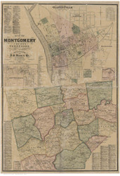 Montgomery County Tennessee 1877 - Old Map Reprint