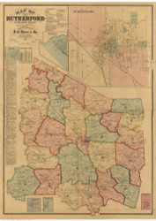 Rutherford County Tennessee 1878 - Old Map Reprint