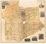 Salt Lake County Utah 1890 - Old Map Reprint