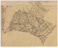 Albermarle County Virginia ca 1860 - Old Map Reprint