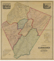 Albermarle County Virginia 1875 - Old Map Reprint