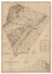 Albermarle County Virginia 1907 - Old Map Reprint