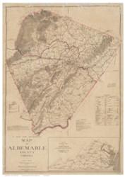 Albermarle County Virginia 1907 - Old Map Reprint