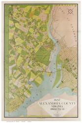 Alexandria County Virginia 1900 - Old Map Reprint