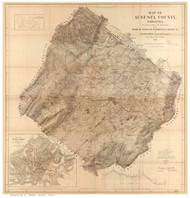 Augusta County Virginia 1870 - Old Map Reprint