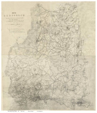 Bedford County Virginia 1864 - Old Map Reprint