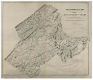 Botetourt County Virginia 1864 - Old Map Reprint