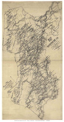 Botetourt County Virginia 1885 - Old Map Reprint
