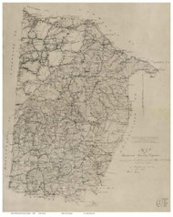 Brunswick County Virginia 1864 - Old Map Reprint