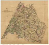 Campbell County Virginia 1864 - manuscript - Old Map Reprint