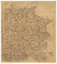 Caroline County Virginia ca 1860 (Color) - Old Map Reprint