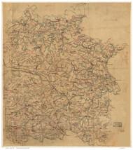 Caroline County Virginia ca 1860 (Color) - Old Map Reprint