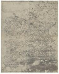 Caroline County Virginia ca 1860 (b&w) - Old Map Reprint