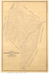 Charlotte County Virginia ca 1860 - Old Map Reprint