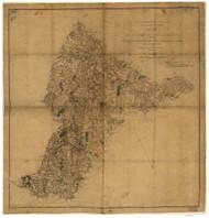 Culpepper County Virginia 1863 - Old Map Reprint