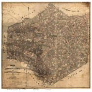 Dinwiddie County Virginia 1864 - Old Map Reprint