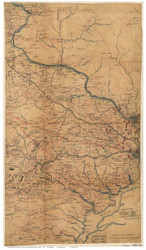 Fairfax County(ALL) and parts of Loudoun & Prince William County Virginia 1864 - Old Map Reprint