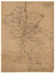 Fauquier County Virginia 1863 - Old Map Reprint