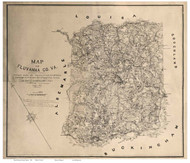 Fluvanna County Virginia 1863 - Old Map Reprint