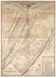 Frederick & Berkeley County Virginia 1809 - Old Map Reprint