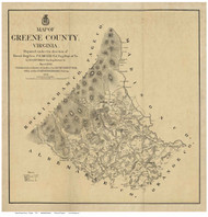 Greene County Virginia 1875 - Old Map Reprint