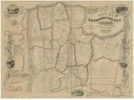 Loudoun County Virginia 1854 - Old Map Reprint