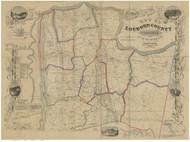 Loudoun County Virginia 1854 - Old Map Reprint