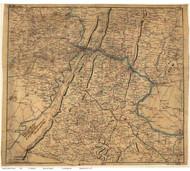 Loudoun County Virginia 1864 - Old Map Reprint